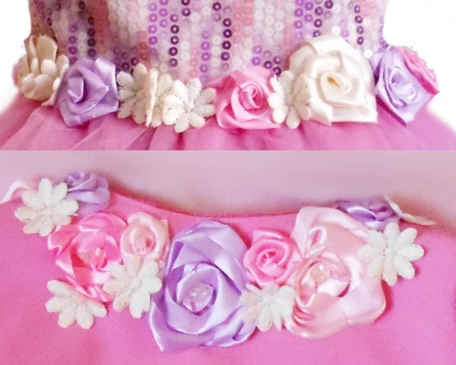 capriciu roz detaliu